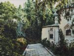 """Yard in the Monastery"". Series of watercolors ""Moscow akyn"""