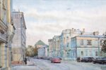"""Pokrovka street"". Series of watercolors ""Moscow akyn"""
