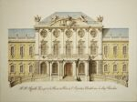 F.B. Rastrelli. The project of the facade of the palace of Empress Elizabeth