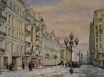 """Arbat street"". Series of watercolors ""Moscow akyn"""