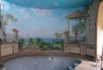 Wall painting in the pool